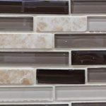 Grouted tile - glass and ceramic