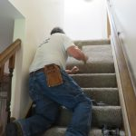 Securing the Carpet on Stairs